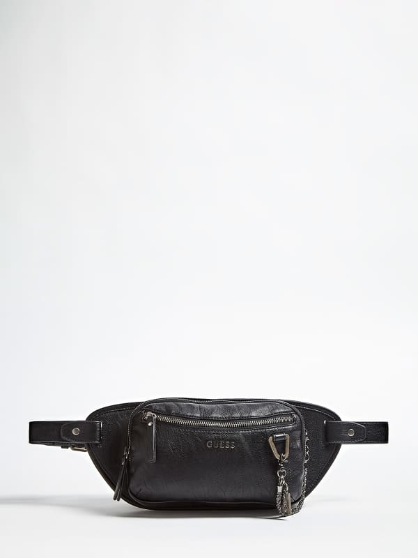 Guess heren portemonnee zwart 100%polyurethane kopen online