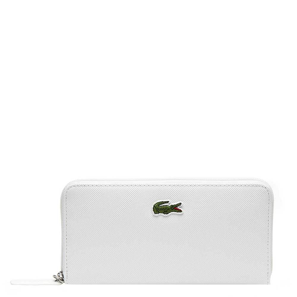 Lacoste dames portemonnee wit polyester