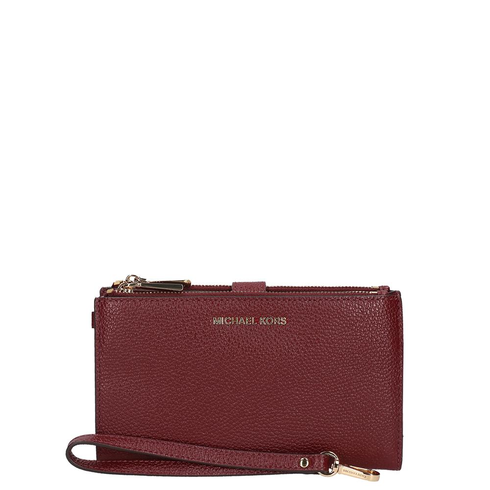 5f1217fd1c90c Michael kors dames portemonnee rood leer kopen online
