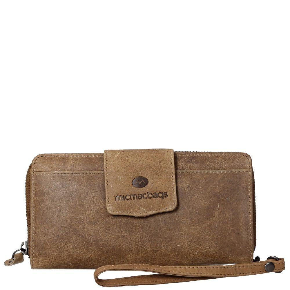 6fce4bbac0c Micmacbags dames portemonnee beige leer kopen online