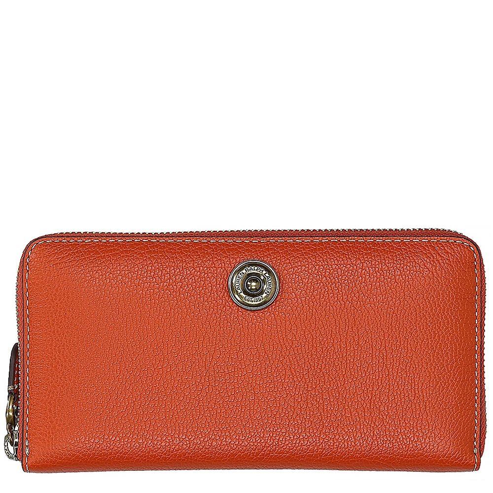 3094e3bcb60 Ralph lauren dames portemonnee oranje leer kopen online