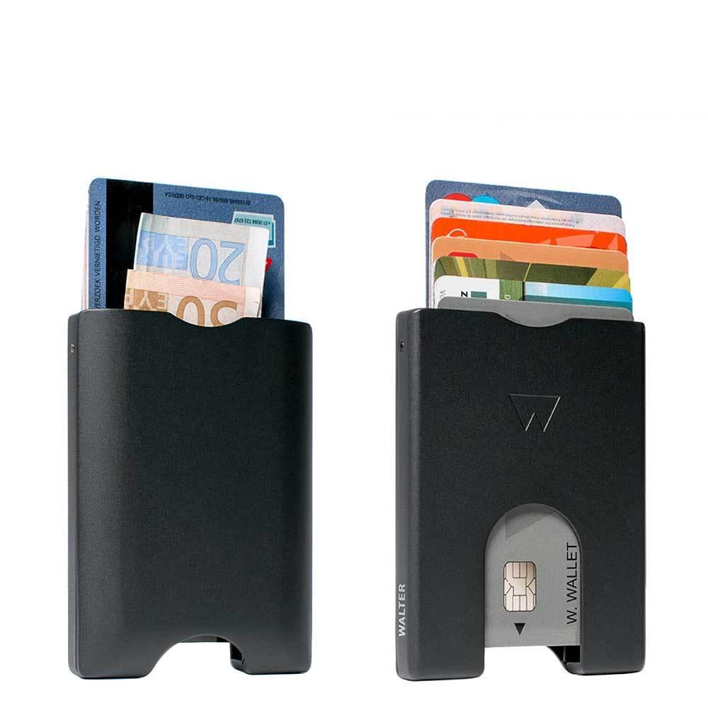 Portemonnee Heren Creditcard.Walter Wallet Heren Portemonnee Zwart Aluminium Kopen Online